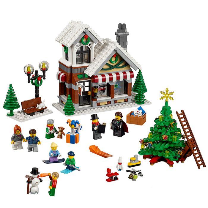 LEGO Kerstdorp - Bakker en LEGO Kerstboom