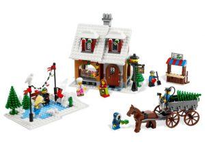 LEGO Kerstdorp - Schaatsbaan en kerstboomverkoop