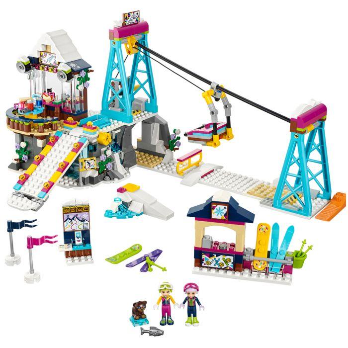 Kerstdorp - Skilift LEGO Friends met eigen aanpassingen