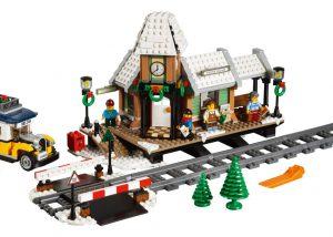 LEGO Kerstdorp - Treinstation