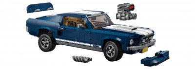 LEGO hobby auto - Ford Mustang met details van deze bouwset